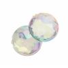 Acrylic 10mm Round Facet Crystal Aurora Borealis